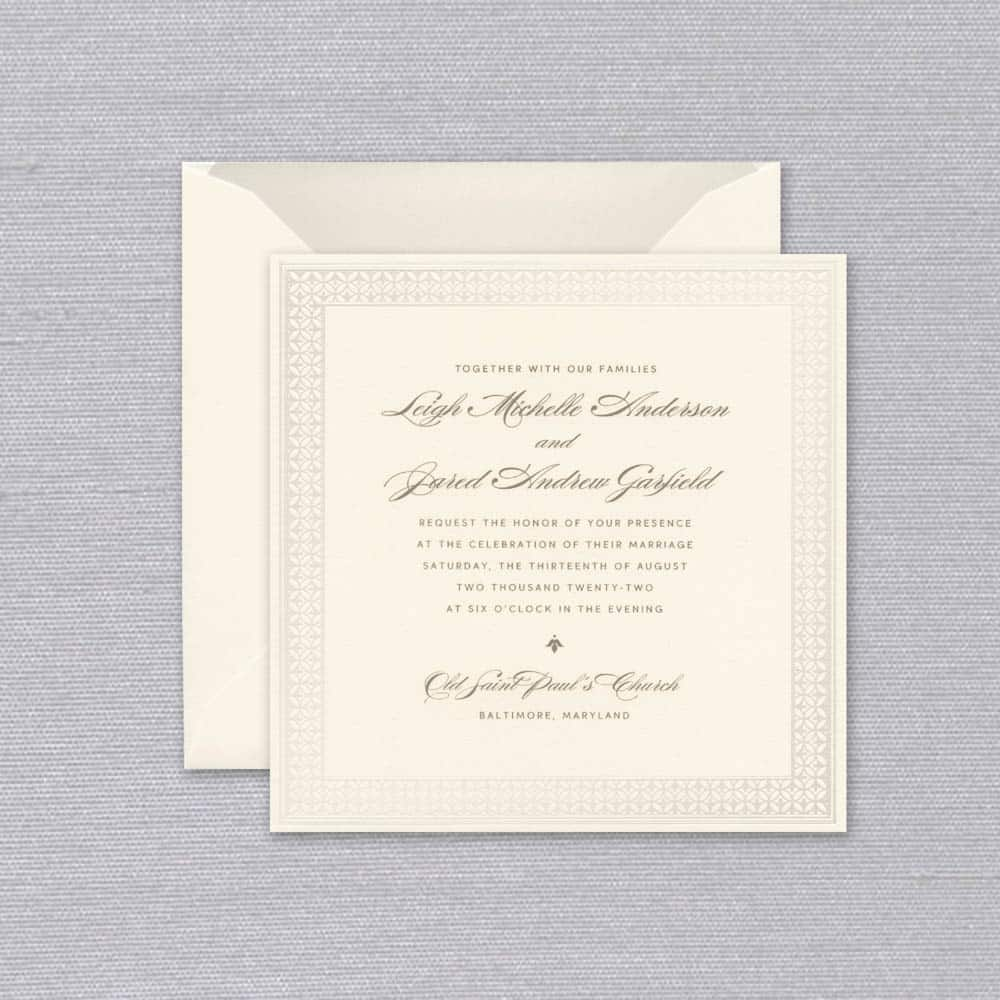 William Arthur | Geometric Petals Invitation