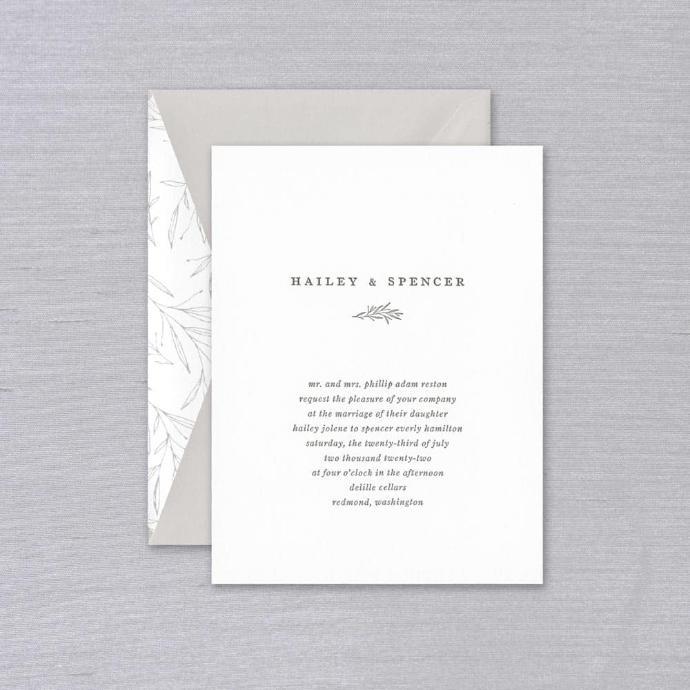 William Arthur | Hailey Invitation