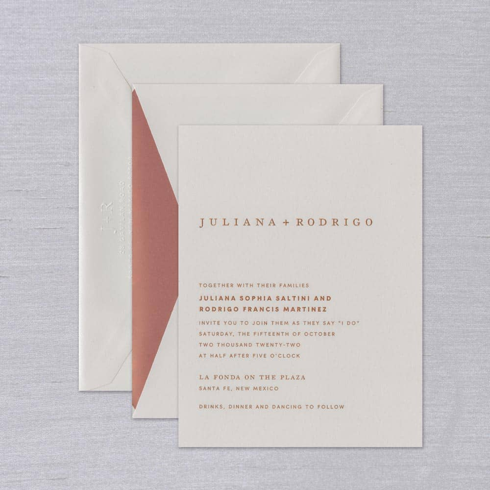William Arthur | Juliana Invitation