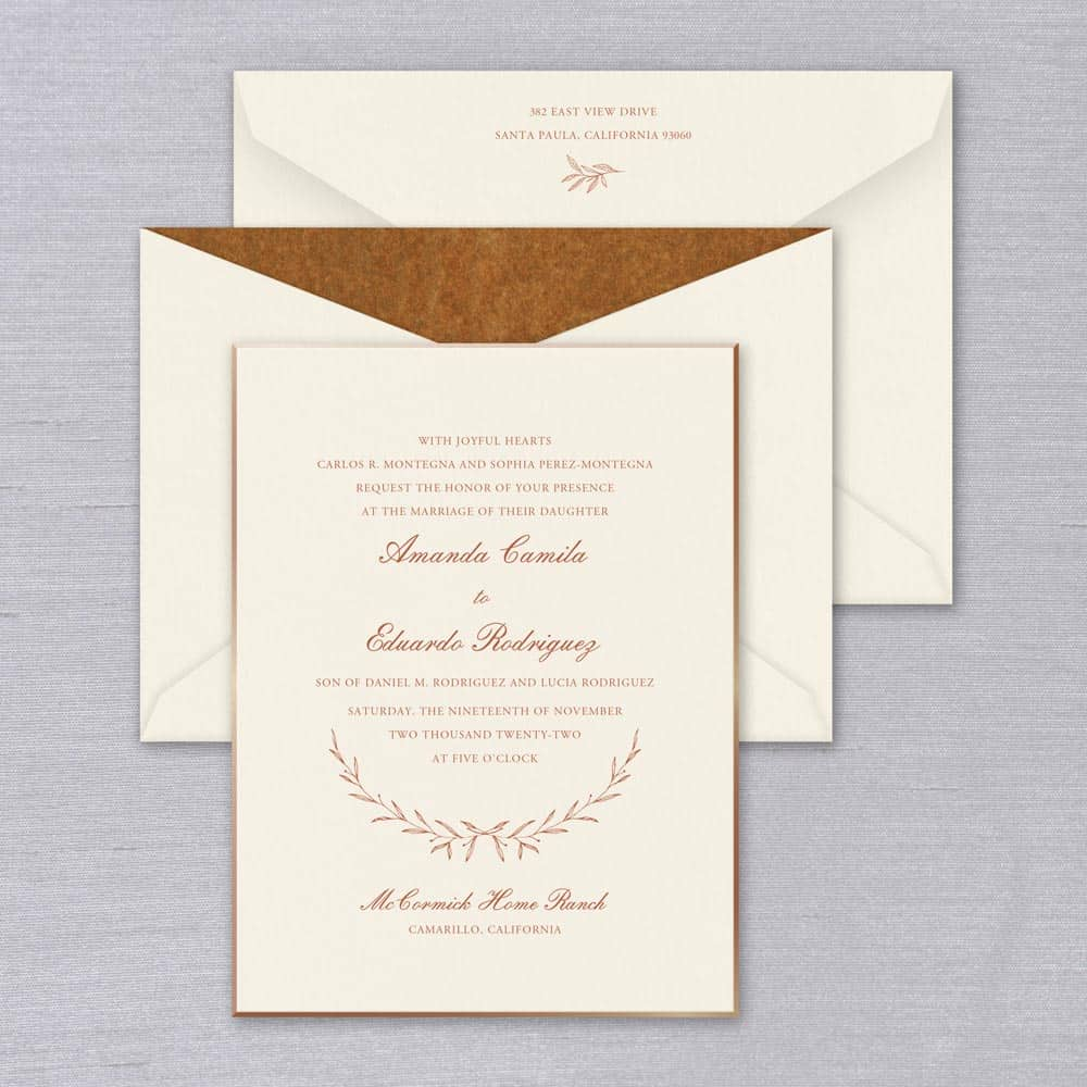 William Arthur | Laurel Invitation