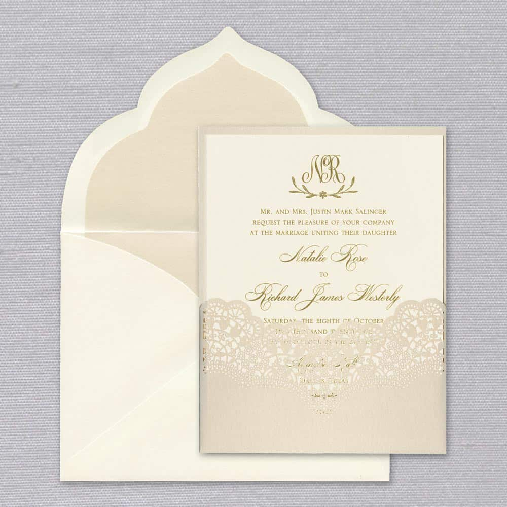 William Arthur | Margot Lace Invitation