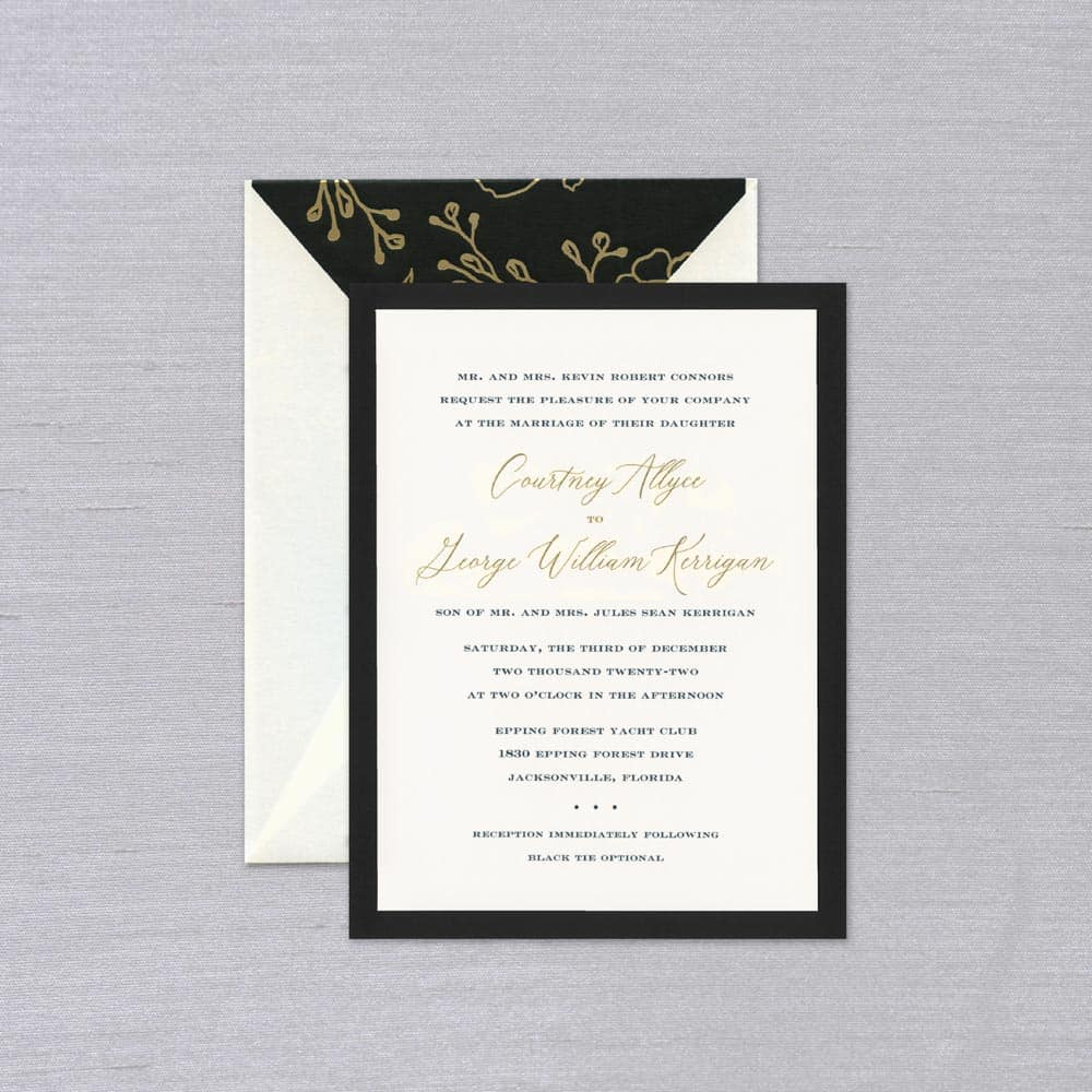 William Arthur | Opulence Invitation