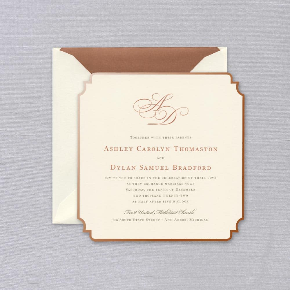 William Arthur | Regal Corners Invitation