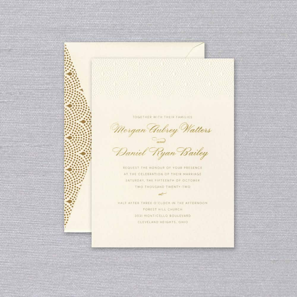 William Arthur | Scalloped Pearls Invitation