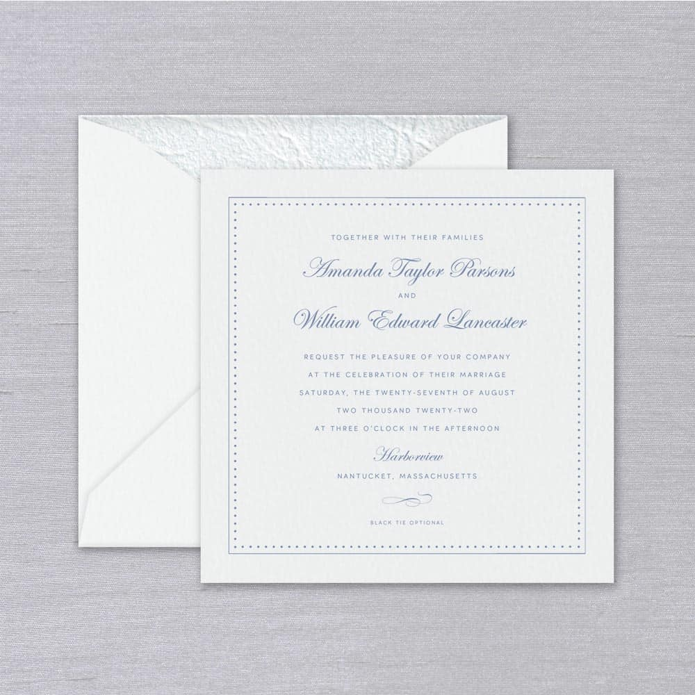 William Arthur | Seaside Invitation