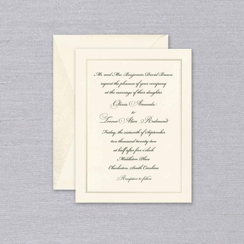 William Arthur | Simplicity Invitation
