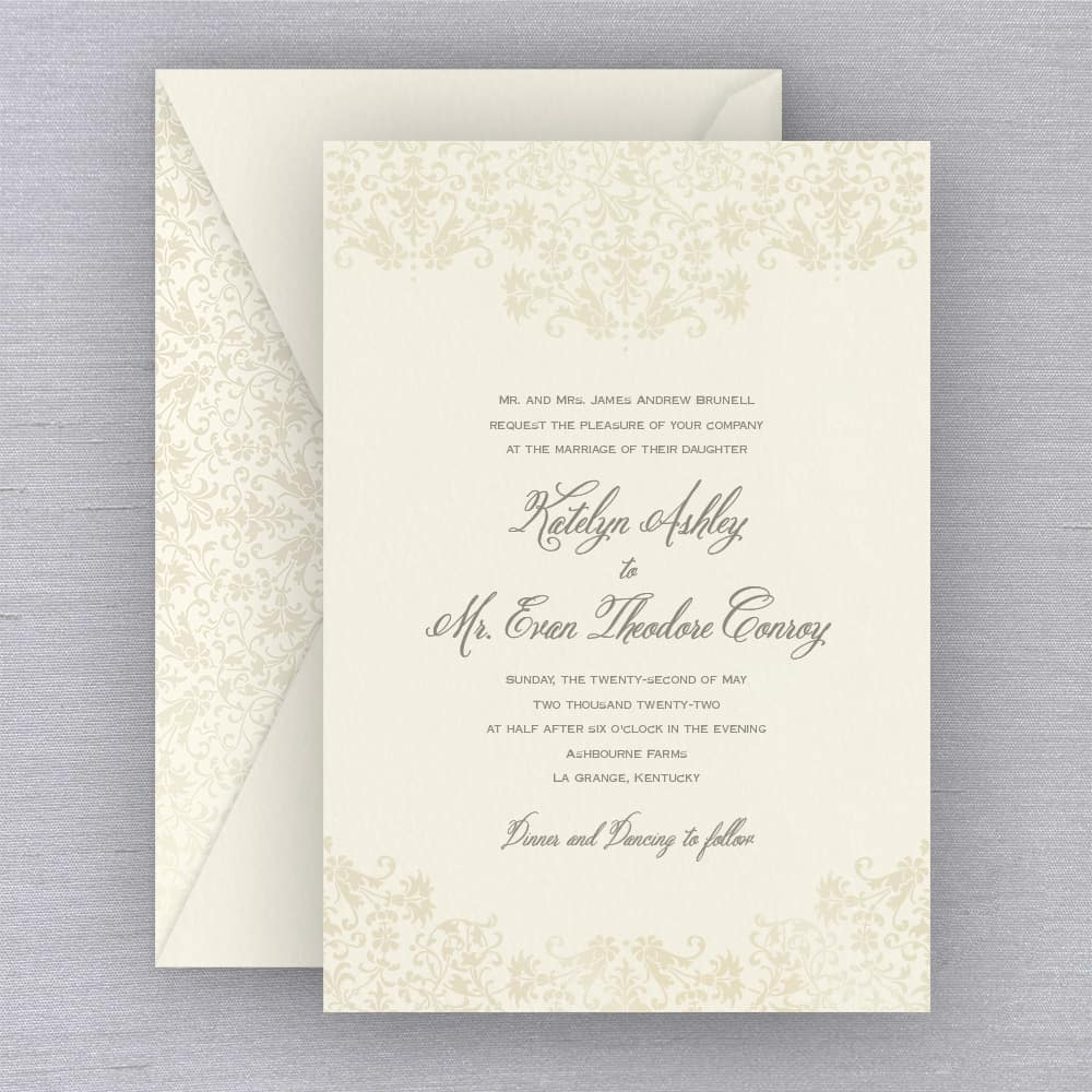 William Arthur | Vintage Floral Invitation