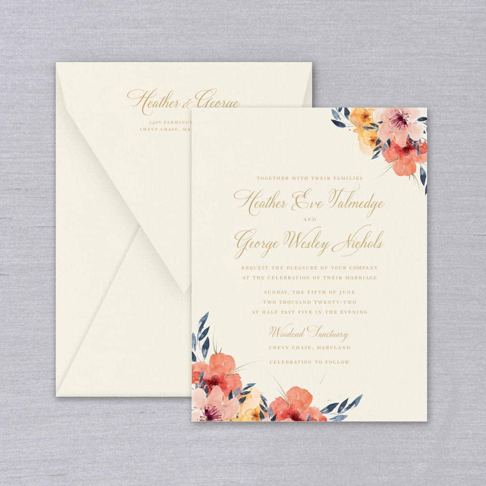 William Arthur | Watercolor Floral Invitation
