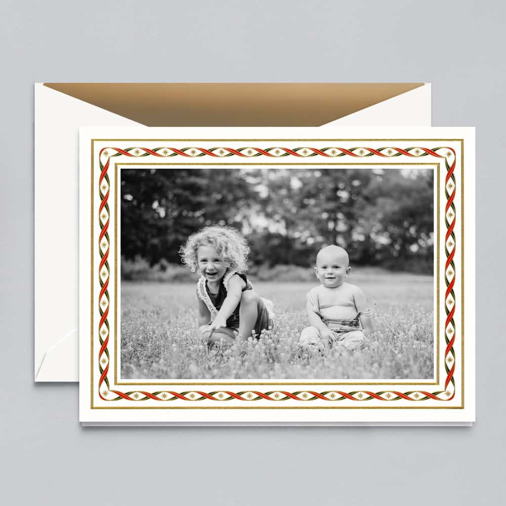 Crane & Co. | Woven Ribbon Photo Card