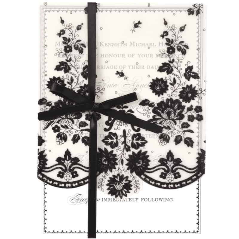 Anna Griffin | Black Lace Petticoat Vellum