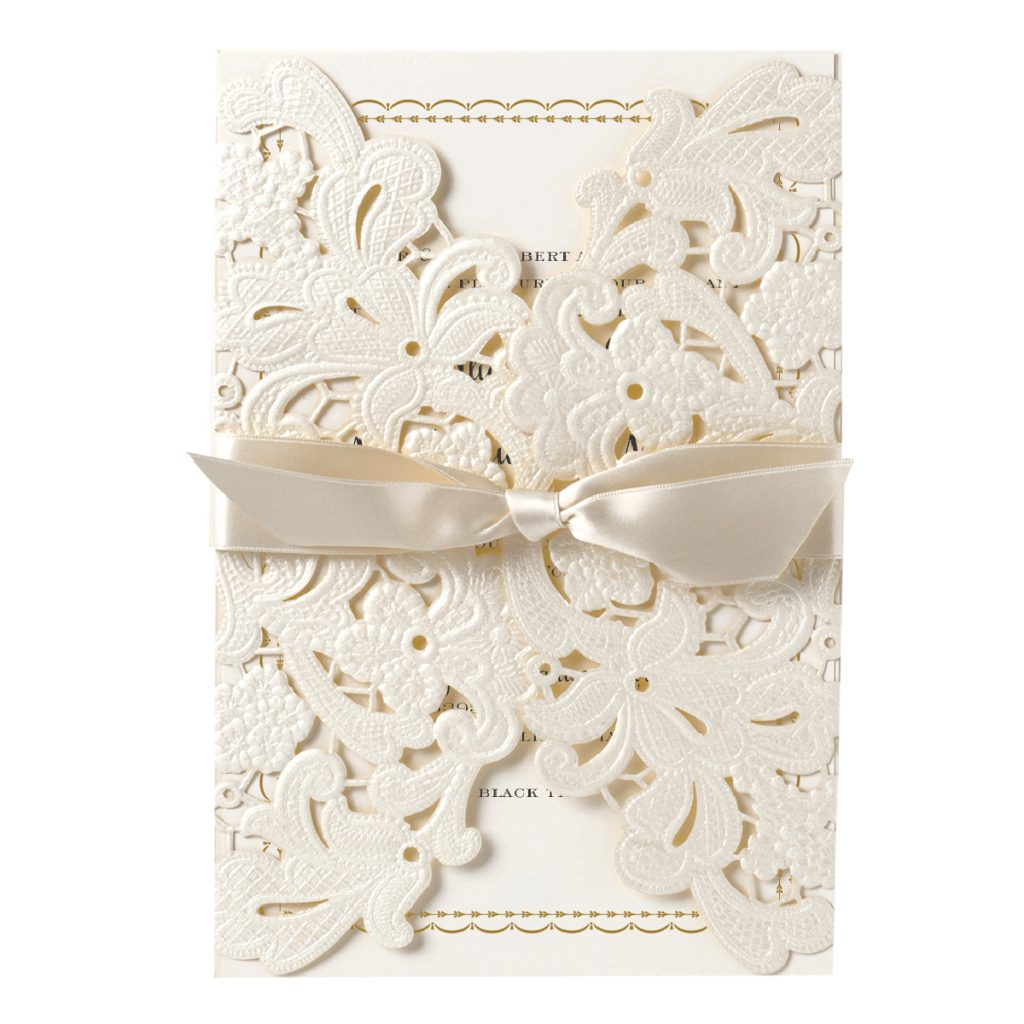 Anna Griffin | Ivory Embossed Lace Gatefold