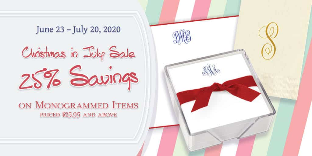 Embossed Graphics Christmas in July Sale