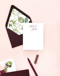 Smitten On Paper | Amber Thank You Card