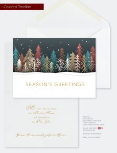 Business Holiday Collection | Colored Treeline