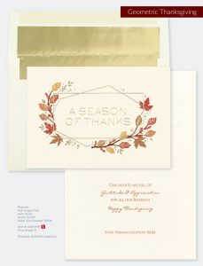 Business Holiday Collection | Geometric Thanksgiving