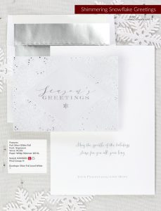 Business Holiday Collection | Shimmering Snowflake Greetings