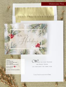 Business Holiday Collection | Watercolor Pine