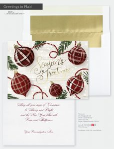 Christmas Holiday Collection | Greetings In Plaid