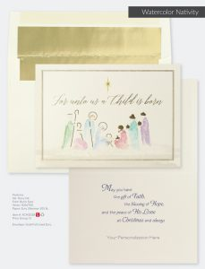 Christmas Holiday Collection | Watercolor Nativity