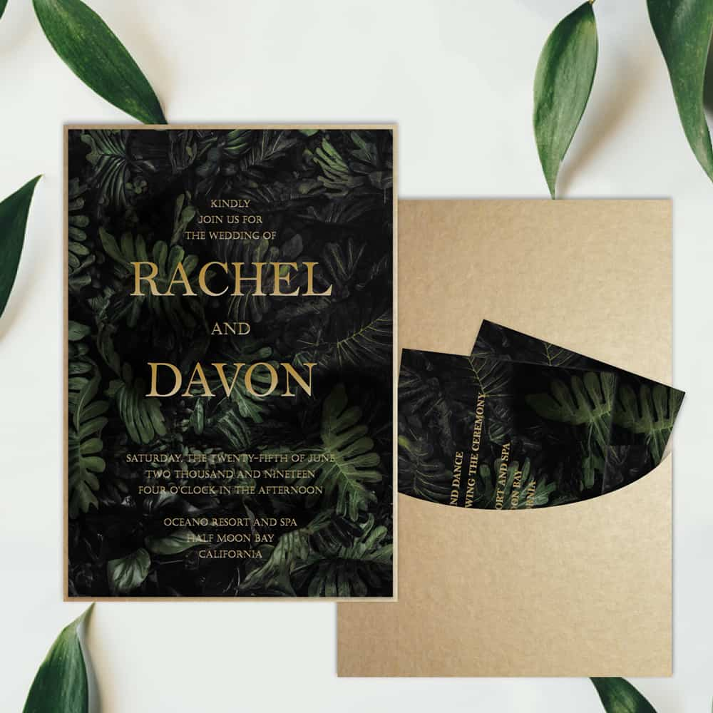 Regina Craft | Tropical Night Wedding Invitation