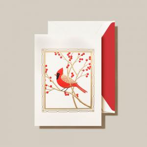 Crane | Cardinal Holiday Card