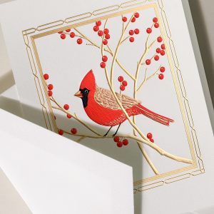 Crane | Cardinal Holiday Card