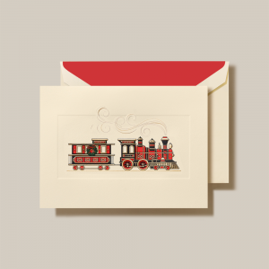 Crane | Christmas Train Holiday Card