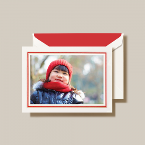 Crane | Classic Red and Gold Frame Photo Card