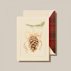 Crane | Elegant Pinecone Ornament Holiday Card