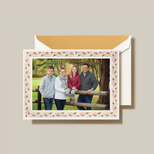 Crane | Florentine Border Photo Card