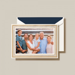 Crane | Gold Portrait Frame Photo Card