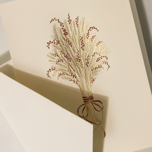 Crane | Harvest Wheat Holiday Card