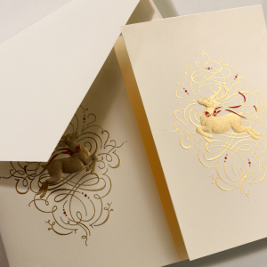 Crane | Leaping Reindeer Holiday Card