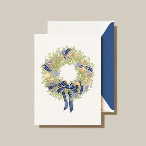 Crane | Sea Berries and Shells Coastal Wreath Holiday Card