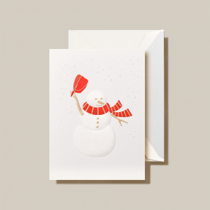 Crane | Snowman Holiday Card