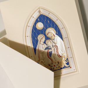 Crane | Stained Glass Manger Scene Holiday Card