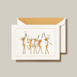 Crane | Toasting Reindeer Holiday Card