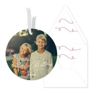 Smitten On Paper   Calligraphy Christmas Ornament