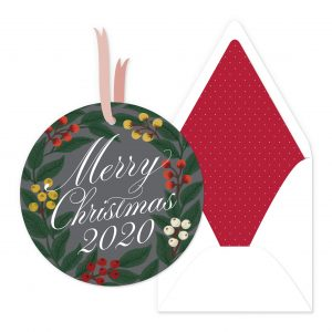 Smitten On Paper | Circle Christmas Wreath Ornament