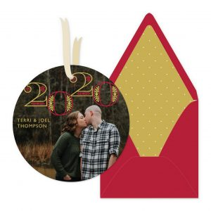 Smitten On Paper   Circle Year Ornament