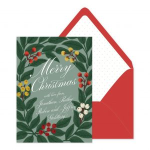 Smitten On Paper | Classic Christmas Wreath