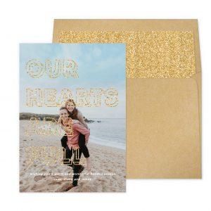 Smitten On Paper | Full Hearts Gold Glitter