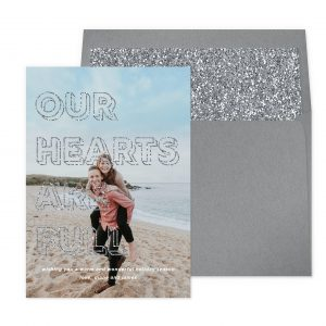 Smitten On Paper | Full Hearts Silver Glitter