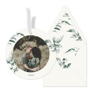 Smitten On Paper   Sketched Leaves Ornament