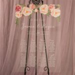 Acrylic Seating Chart with Floral Arch Design