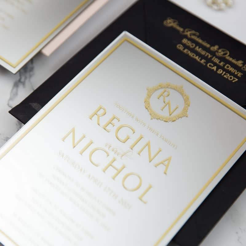 Mirror Acrylic Wedding Invitation
