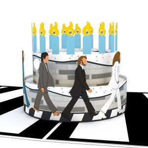 Lovepop Beatles Abbey Road Birthday Cake 3D Pop Up Card