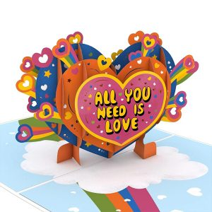 Lovepop Beatles All You Need Is Love 3D Pop Up Card