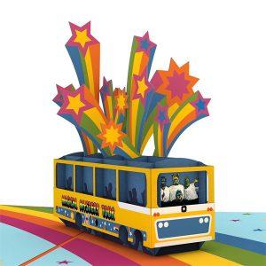 Lovepop Beatles Magical Mystery Tour 3D Pop Up Card