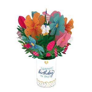 Lovepop Birthday Flower Bouquet 3D Pop Up Card